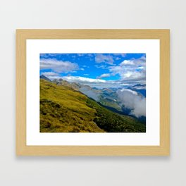 Valley Routeburn Trek, New Zealand Framed Art Print