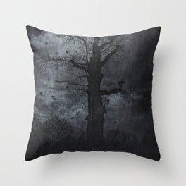 The dirty winter spirit Throw Pillow