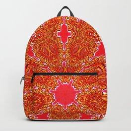 Vintage Crystal Floral Auburn Burnt Orange Backpack