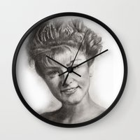 laura palmer Wall Clocks featuring TWIN PEAKS - LAURA PALMER by William Wong