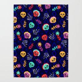 Fiesta Skulls #society6 #skulls Poster