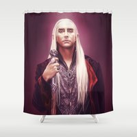 thranduil Shower Curtains featuring Thranduil by tillieke