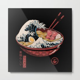 Great Ramen Wave Metal Print