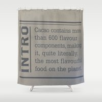 chocolate Shower Curtains featuring Chocolate  by Crimson-daisies