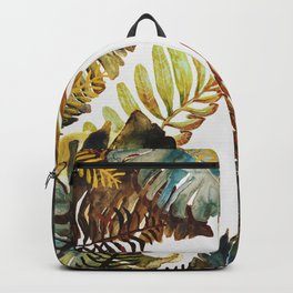 tropical old leaves Backpack