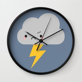 Kawaii Thunder & Lightning Cloud Wall Clock