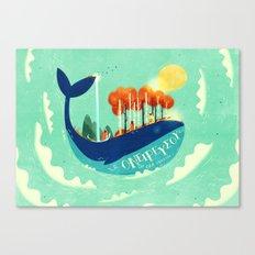 :::Tall Tree Whale::: Canvas Print