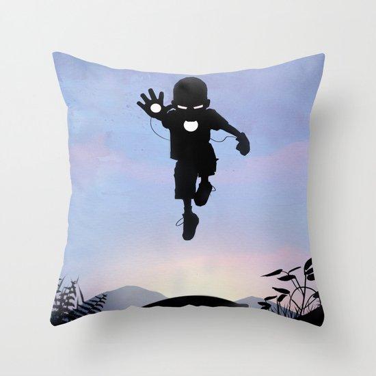 Iron Kid Throw Pillow