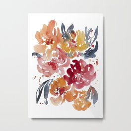 Blooming in the Fall Metal Print