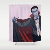 dracula Shower Curtains featuring Dracula by ChrisNygaard
