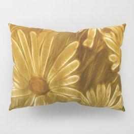 Golden daisy Pillow Sham