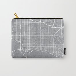 Long Beach Map, California USA - Pewter Carry-All Pouch