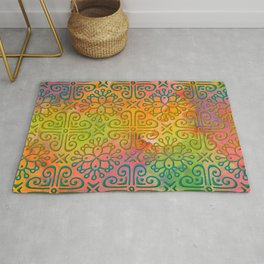 DP050-6 Colorful Moroccan pattern Rug
