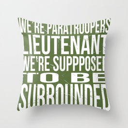 Paratroopers Throw Pillow
