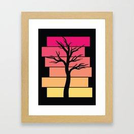Tree Silhouette (Sunrise) Framed Art Print