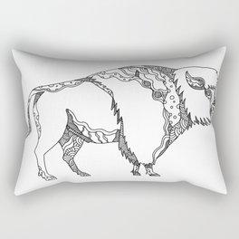 American Buffalo Doodle Art Rectangular Pillow