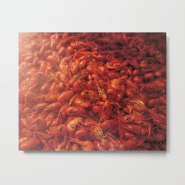 Infused Crawfish Steam, Jefferson Parrish, Louisiana Art Photo Metal Print