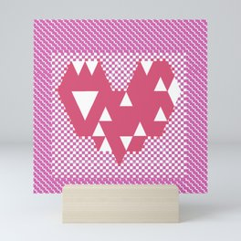 Heart pink Mini Art Print