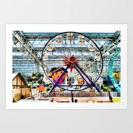 Nickelodeon Universe indoor amusement park 2 Art Print