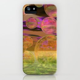 Peace in the Storm - Abstract Bronze Tranquility iPhone Case