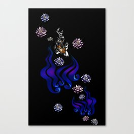 Koi on Black Canvas Print