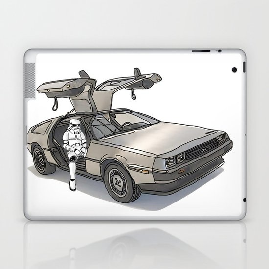 Stormtroooper in a DeLorean - star wars Laptop & iPad Skin