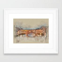 Firenze, Ponte Vecchio Framed Art Print