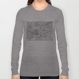 Vintage Map of Athens Greece (1911) Long Sleeve T-shirt