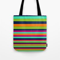 stripe Tote Bags featuring Stripe by Aimee St Hill