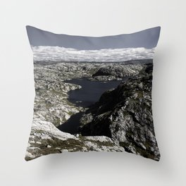 Sirdal Landscape 2, Norway Throw Pillow