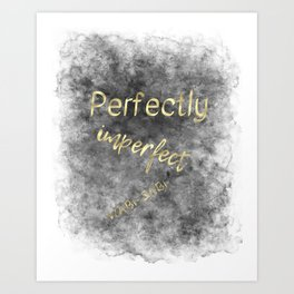 Perfectly Imperfect - Wabi-Sabi (gold, charcoal) Art Print