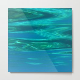 Below the surface - underwater picture - Water design Metal Print