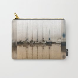 Boats moored in fog Carry-All Pouch