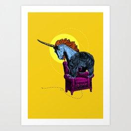 Get off the furniture, Unibear Art Print