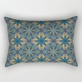 Colorful abstract ethnic floral mandala pattern design Rectangular Pillow
