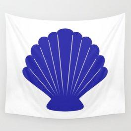 Seashell (Navy Blue & White) Wall Tapestry