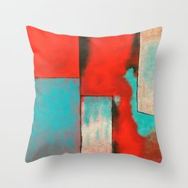 The Corners of My Mind, Abstract Painting Throw Pillow