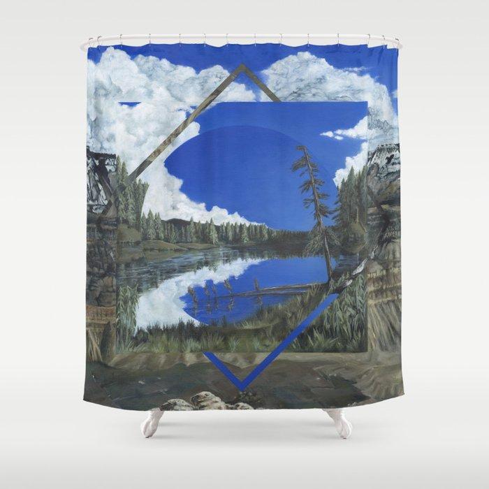 Grand Mesa Polyscape Shower Curtain