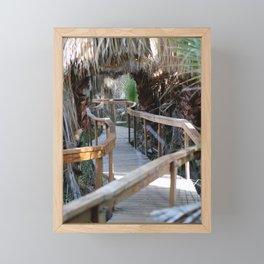 Wooden Pathway Through Desert Oasis 2 Coachella Valley Wildlife Preserve Framed Mini Art Print