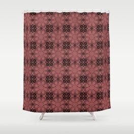 Dusty Cedar Floral Geometric Shower Curtain