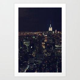 Nightlights Art Print