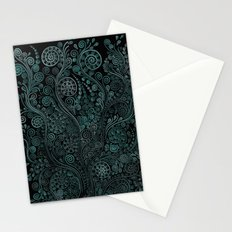 Teal ornaments Stationery Cards