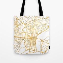 PHILADELPHIA PENNSYLVANIA CITY STREET MAP ART Tote Bag