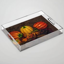 Autumn Pumpkins Acrylic Tray