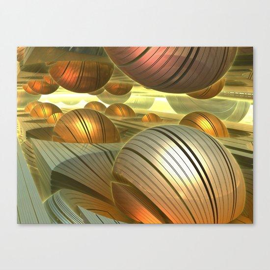 Golden Globes / /  #fractal #fractals #3d Canvas Print