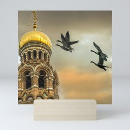 Take me to the Golden Domes Mini Art Print