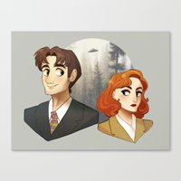 scully Canvas Prints featuring Mulder & Scully by Sutexii