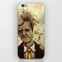 david lynch iPhone & iPod Skins featuring Lynch by Davel F. Hamue
