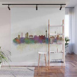 Berlin City Skyline HQ5 Wall Mural