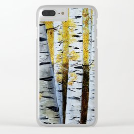 Birch Grove, acrylic painting, inspired by Belarus Clear iPhone Case